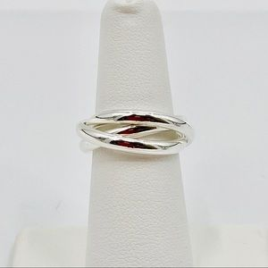 🌸.925 stamped Silver Plated Triple Ring Ma20-JR01